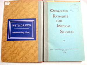 Organized Payments For Medical Services 1939 AMA