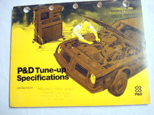 P&D Tune-Up Specifications 1970's Catalog 7-512A