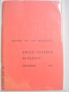 Smith College Dec. 1962 Report of the President
