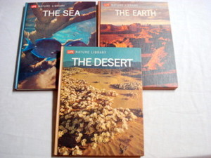 3 1960's Life Books The Sea, The Desert, The Earth