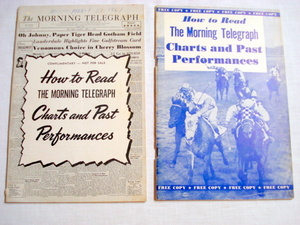 1959 & 1961 Horse Racing Charts & Past Performances