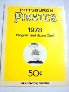 1978 Pittsburgh Pirates Program and Score Card