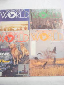 4 Waterfowler's World Magazines from 1985-1986