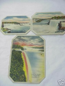 Set of Three Vintage Souvenir Niagara Falls Trivets