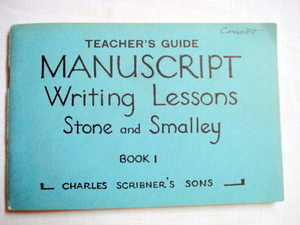1926 Teacher's Guide Manuscript Writing Lessons