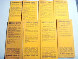8 American Clipper Catalogues 1941-42 Merion Station Pa.