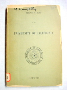 Register of The University of California, 1891-92