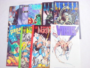 9 Dark Hose Comics Virus #1, Aliens Archives #1, #2
