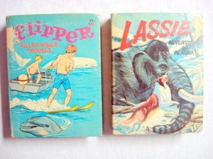 Flipper #2003 Book & Lassie #2004 Book Big Little Books