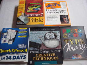5 Books for Your PC Photoshop, Illustrator 7, Quark Express