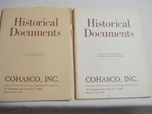 2 Historical Documents Catalogues No. 21 and No.22, 1978-1979 By Cohasco, Inc.