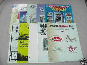 10 1990s Hobby Catalogs Guillow's, Dremel, Midwest