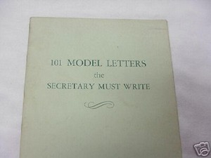 101 Model Letters the Secretary Must Write
