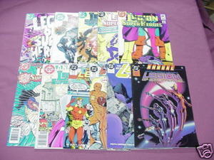 11 Legion of Super-Heroes Comics #290, 291, 293, 302 +