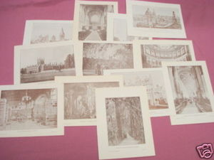 12 Illustrated Pages Of 1899 Oxford, England Scenes UK
