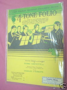 1931 Fourtone Folio Music Instruction Book Quartets