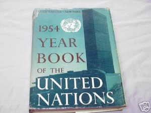 1954 Year Book of the United Nations 1955 1st Printing