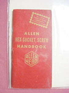 1958 Hex-Socket Screw Handbook Allen Manufacturing