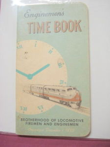 1961-1962 Railroad Enginemen's Time Book