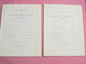 1962 & 1964 Proceedings American Philosophical Society