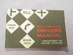 1962 New York State Driver's Manual Dept Motor Vehicles