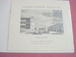 1964 Conard High School, West Hartford Ct. Commencement