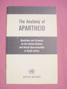 1968 United Nations Booklet The Anatomy of Apartheid