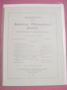 1971 Proceedings of the American Philosophical Society