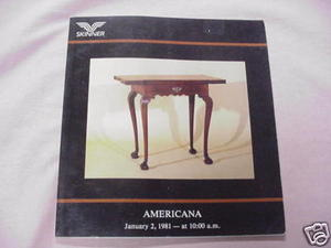 1981 Skinner Auction Catalog Americana Furniture