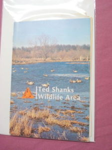 1981 Ted Shanks Wildlife Area Brochure Missouri + Card