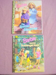 2 Barbie Little Golden Book Scavenger Hunt & Sleepover