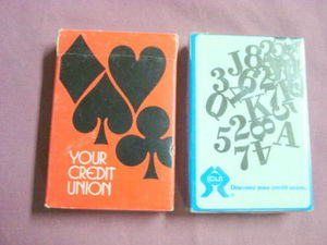 2 Decks of Sealed Credit Union Playing Cards 1975