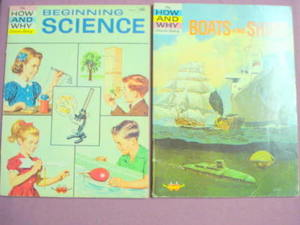 2 How and Why Wonder Books Beginning Science & Boats
