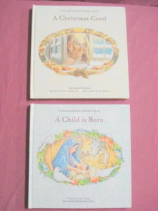 2 Pop-Up Books A Christmas Carol & A Child Is Born