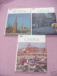 3 1960's Life World Library Books Russia, China, Japan