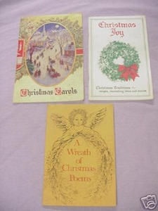 3 Christmas Booklets Christmas Carols 1941 Joy Poems