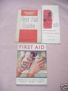 3 First Aid Booklets Metropolitan Life, Reader's Digest