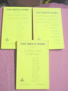 3 Issues of Yale French Studies Magazine 1948-1953