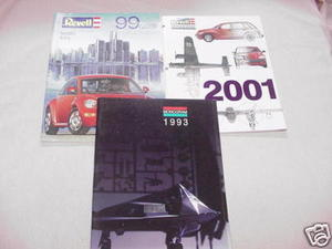 3 Model Catalogs Monogram 1993, Revell/Monogram 2001