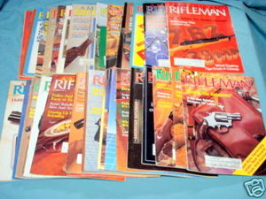 34 Issues of American Rifleman Magazine 1980-1989