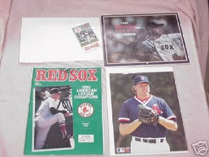 4 Boston Red Sox 70s/80s Photography Cards