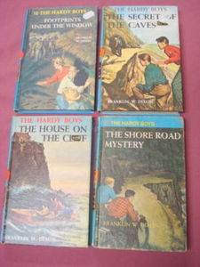 4 Hardy Boys Hardcover Books #2, #6, #7, #12