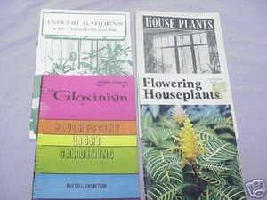 4 Indoor Houseplant Booklets 1941-1976 Lighting