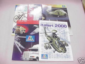 4 Italeri Model Catalogs & Fujimi Catalog