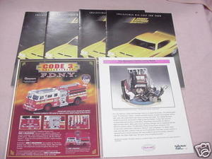 Four Johnny Lightning Collectible Diecast 2000 Catalogs