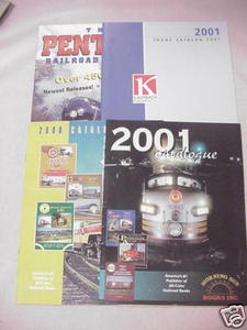 4 Railroad Catalogs Morning Sun, Pentrex, Kalmbach