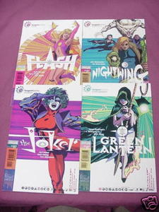 4 Tangent Comics Flash 1, Joker 1, Green Lantern 1