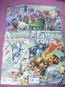 5 Fantastic Four Vol. 2 Marvel Comics #1, 2, 5, 6, 8