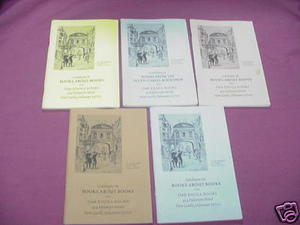5 Issues Oak Knoll Books Catalog #51, 53, 54, 65, 66
