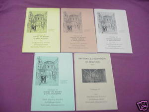 5 Issues Oak Knoll Books Catalog #92, 94, 95, 96, 97